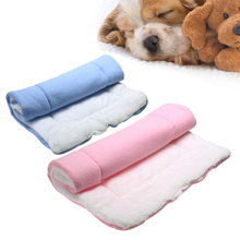 Foldable Dog beds mats Dog Cat Rest Blanket Breathable Pet Cushion Dog Cat Bed Soft Warm Sleep Mat Warm Thick Cat Bed S/M/L/XL(China)