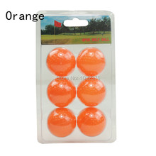 6PCS Golf Hollow Balls Wholesale Golf Practise Ball Golf ball free shipping