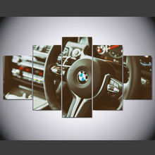 DAFENJINGMO ARTS 5 Piece Canvas Painting Spray Printings Art Picture Movie Poster BMW The steering wheel ny-091