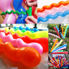 100 Pcs  Mixed Color Spiral Twist Latex Helium Screw Balloon Birthday Party Supplies Hot