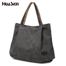 Huasign Big Canvas Bag Simple Handbags Messenger bags for Women large capacity Handbag Shoulder Bags