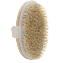 Natural Bristle Dry Skin Body Brush Exfoliate Stimulate Blood Circulation Relaxing SPA Shower Scrubber Massager Bathroom Product(China)
