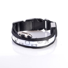 Fashion Nylon Electrie Dog Collares For Large Dogs Iuminescent Reflective Collar Honden Riem Dog Supplies Collier Chien 80A0308