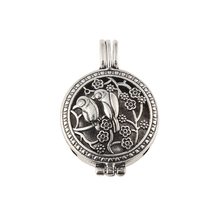 Antique Silver Lotus Bird Rabbit Prince Multi-style Design Alloy Beads Cage Locket Perfume Essential Oil Diffuser Pendant