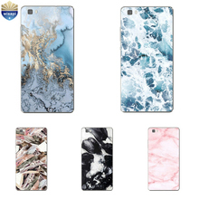 For Huawei P8 Lite 2017 Phone Case For Huawei P8 Shell For 5.2 Inch Huawei Honor 7 / Honor 7i Cover Soft TPU Marble Lines Design(China)
