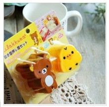 100sets lovely kawaii Rilakkuma& Chicken DIY Style Sushi molds/Mould Cutte Retail Package good gifts for kids