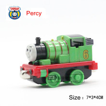 New Diecast Metal Thomas and Friends Train One Piece PERCY Megnetic Train Toy The Tank Engine Trackmaster Toys For Children Kids