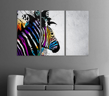 Hot sell Wall Art Zebra Painting On Canvas Abstract Print Pictures living room decoration pictures with framed GA985