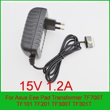 High quality 1PCS 15V 1.2A Tablet Battery Charger EU Plug for Asus Eee Pad Transformer TF700T TF101 TF201 TF300T TF301T + free