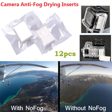 12Pcs Xiaomi yi SJCAM Gopro Accessories Anti-Fog Inserts Recycle Anti Fog Drying Inserts for Gopro SJCAM Xiaoyi Waterproof Case(China)