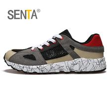 SENTA summer 2017 brand sneakers men single layer hollow net cloth breathable outdoors sports running shoes for men sports(China)