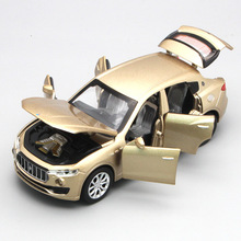 Six Open Doors Alloy Car, 15.5cm Scale 1:32 Die cast model, Car Model toys W/Light N Music(China)