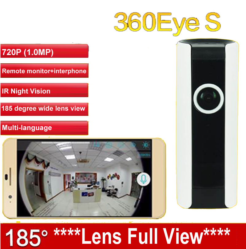 EC3 185degree lens IPC WiFi camera Panoramic IP Camera HD 720P baby monitor Camera Wireless Surveillance CAM 360Eye S cctv<br>