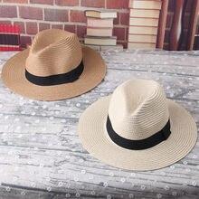 2017 niños del verano Niñas Niños wide BRIM sombreros de paja panamá verano  Sol letras sombrero 5fd4230809c