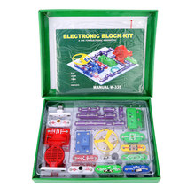 Free Shipping Technic Electronics Blocks kit Kids Toys Snap circuits Electronics Discovery Kit Science Educational Toy(China)