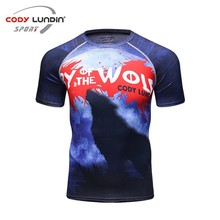 Buy 3D Print Style Compression Shirt Men Men's Short Sleeves MMA Rashguard Tshirt Quick dry Workout Bodybuilding Fitness Tops for $8.68 in AliExpress store