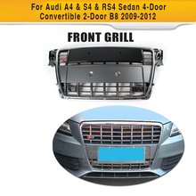A4 B8 Car Grille for Audi 2009 2010 2011 Silver Chromed Frame