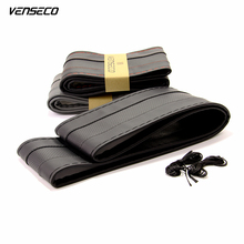 VENSECO breathable type steering wheel hub breathable sewing steering wheel cover DIY classic steering cover soft braid on wheel