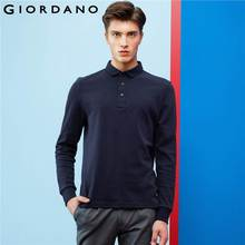 Giordano Men Long Sleeve Polo Casual Polo For Men Brand Quality Clothes Soft Cotton Tops Camisa Polo Masculino