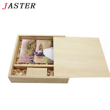JASTER Photo Unique Album Wood Box Memory stick Pendrive 8GB 16GB Photography Wedding Studio customer LOGO (size 170*170*35 mm)