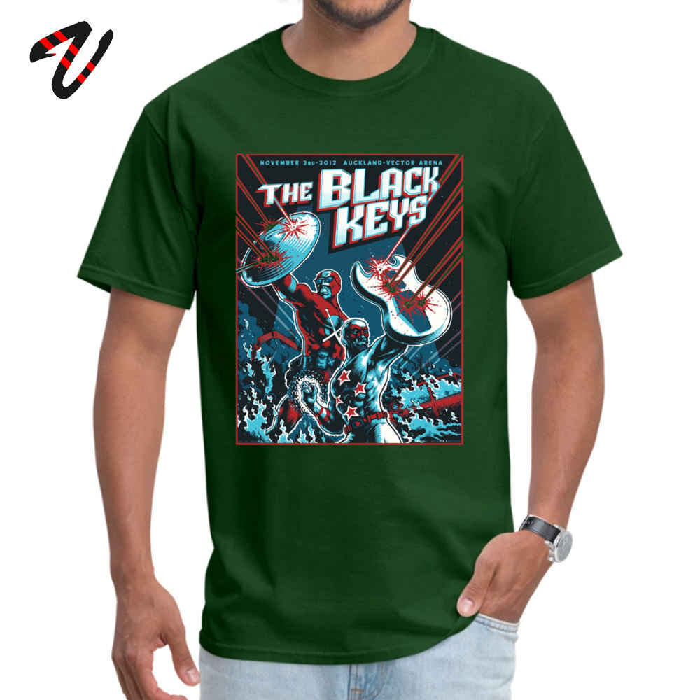 The Black Keys 100% Cotton Normal T Shirt Special Short Sleeve Men T-Shirt Simple Style Summer/Autumn Sweatshirts Crewneck The Black Keys14890 dark