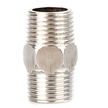 "1 PC New 1/2"" Male x 1/2"" Male Hex Nipple Stainless Steel 304 Threaded Pipe Fitting NPT P22(China)"