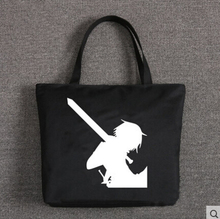 New Sword Art Online Handbags Anime SAO Kirigaya Kazuto Bags Cartoon Canvas Women Student Shoulder Bag