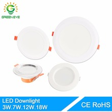 GreenEye 4/5/6/7.5Inch Soft Light LED Downlight 3w 7w 12w 18w Ceiling Recessed LED Spot Lamp LED Down Light 220v Indoor Lighting(China)