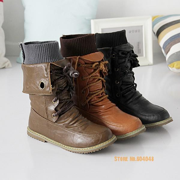 2017 Fashion Motorcycle Martin Boots For Women Winter Snow Boots Pu Leather Flats Shoes Plus Size 43 Women Boots<br><br>Aliexpress