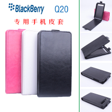 Hot Sale For Blackberry Q20 Case Luxury PU Leather Case for Blackberry Q20 Open Up and Down mobile phone case