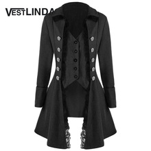 VESTLINDA Trench Women Coat Winter Spring Fashion Casual Lace Trim Button Up Tailcoat New Year Ladies Tops Clothing Windbreaker(China)