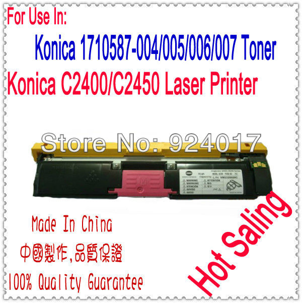 Refill Toner Cartridge For Konica Minolta MagiColor 2400W 2430DL 2450 2480 2490MF Printer,For Konica 2400 2430 2450 2480 Toner<br>