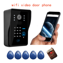 wifi video door phone wireless video doorbell intercom APP for Android and IOS