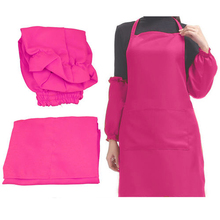 MEOF Women solid Apron Bib Kitchen Kitchen Cooking Craft Baking Cleaning Tool Accessories Rose