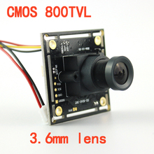 "1/3""Color HD CMOS 800TVL High Resolution 3.6mm Lens CCTV Board Camera Chipboard Camera"