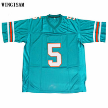 WINGISAM Ray Finkle 5 Novelty Football Jersey Ace Ventura All  Stitched Movie Jersey Green Free Shipping