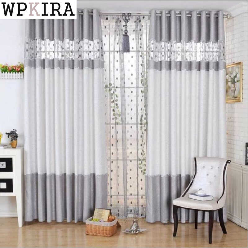 simple modern curtain continental thick chenille curtains finished product fabric living room curtain bedroom curtains 221&30