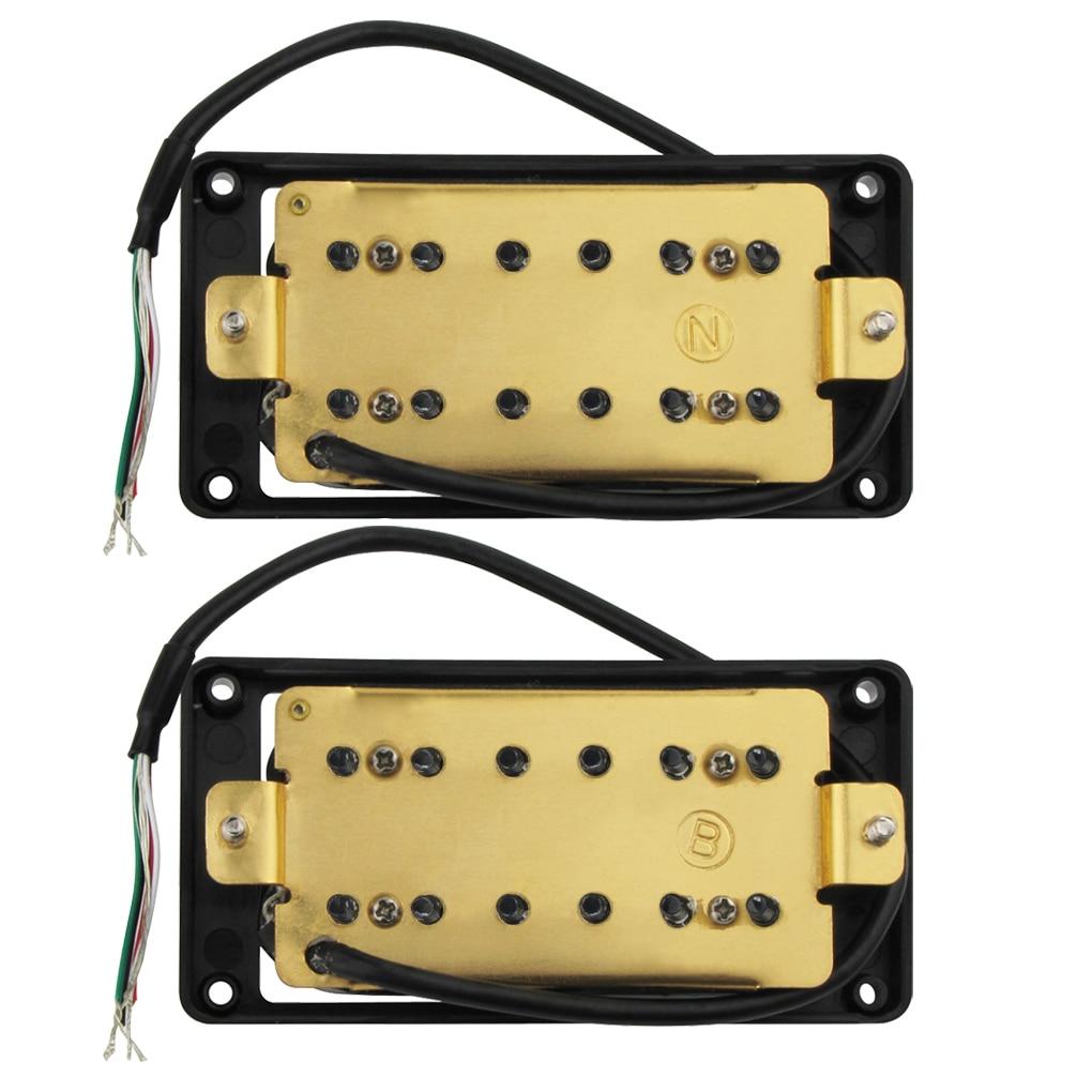 Ensemble de collecte de Humbucker /à double bobine scell/ée par blanc de Yibuy pour la guitare /électrique