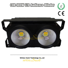 Multifunction Theater Light COB 2 Eyes 200w LED Blinder Stage Light Allow Connect as Led Panel With Warm Yellow and White Light