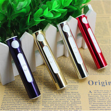 Car USB Cigarette Lighter Portable Windproof Electronic Lighter Mini Charger 4 Colors for your choice