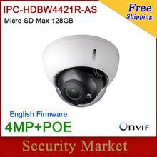 Original Dahua 4MP Camera IPC-HDBW4421R-AS IR Full HD IP TF card Alarm Audio POE Dome Camera DH-IPC-HDBW4421R-AS(China)