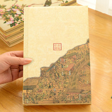 145*215mm New Design Thicken Silk Cloth Notebook School Stationery Hardcover Students Composition Book For Children PL