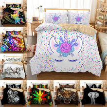 MUSOLEI Luxury Bedding Set Queen King Size Bedclothes Include Duvet Cover Pillowcase Print Home Textile Bed Linens 3pcs(China)