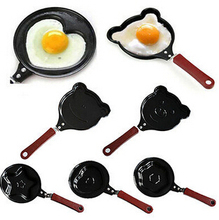 1X Egg Frying Pancakes Kitchen Pan with Stick Housewares Mini Pot DIY Star Pig Flower Heart Egg Mould