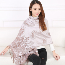free shipping Autumn and Winter scarf women fashion scarf pashmina upscale jacquard scarves national style flower casual shawl