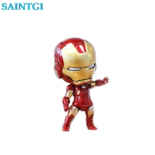 SAINTGI Ironman Q MARK42 Avengers Marvel Figures PVC 10cm #284 Magic Animation  Collection Globos Face Transplant