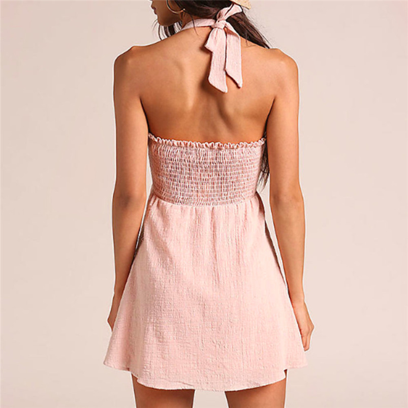2018 Summer Dress Women Sexy Sweet Beach Bandage Bow Dress Bodycon Backless Party Dress Sleeveless Vestidos Wholesale #FY04 (8)