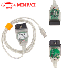 Mini VCI V12.20.024 J2534 For Toyota with FTDI FT232RL Chip TIS Techstream OBD2 Car Diagnostic Cable MINI-VCI MINIVCI(China)