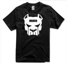 MEN T SHRIT mma Fighting  Bodybuilding Tee Shirt New Summer Top Men's Black Short Sleeve Shirt Custom Print Tees