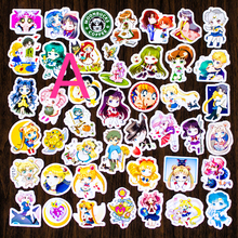 Anime kids stickers lot cartoon kawaii DIY sailor moon stickers in notebook diary Album decoration(China)